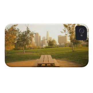Beskåda av centra från picknick i stads- parkerar iPhone 4 cover