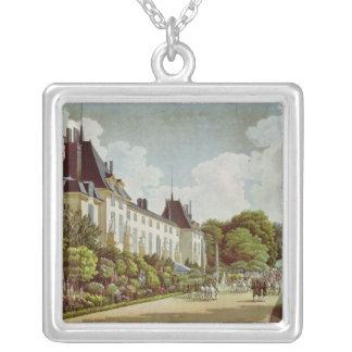 Beskåda av chateauen de la Malmaison Silverpläterat Halsband