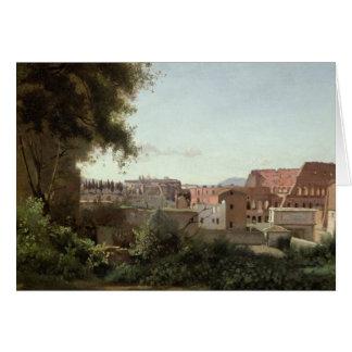 Beskåda av Colosseumen från de Farnese Hälsningskort