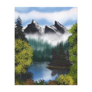 Beskåda av de dimmiga bergen canvastryck