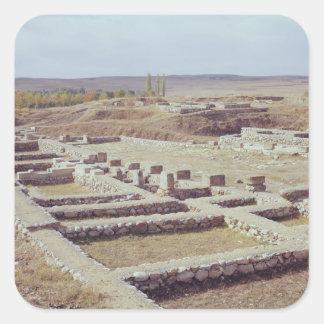 Beskåda av den archaeological platsen, 1450-1200 fyrkantigt klistermärke