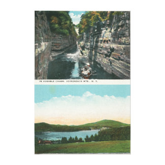 Beskåda av den Ausable svalgen och Saranac sjön Canvastryck