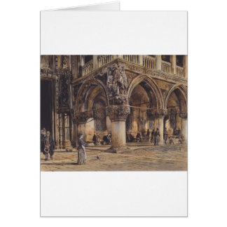 Beskåda av den Ducal slotten i Venedig Rudolf von Hälsningskort