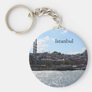 Beskåda av den Istanbul hamnen Rund Nyckelring