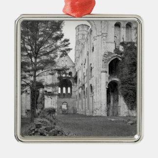 Beskåda av den kyrkliga insidan, c.1052-67 silverfärgad fyrkantigt julgransprydnad