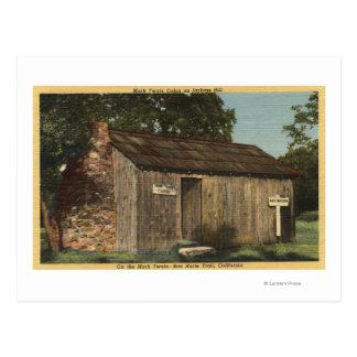 Beskåda av den Mark Twain kabinen på Jackassbacken Vykort