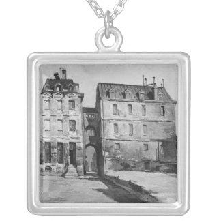 Beskåda av den Maternite Port-Royalet Silverpläterat Halsband