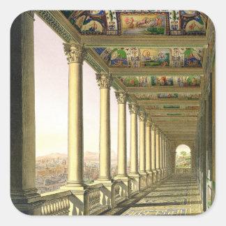 Beskåda av den tredje golvloggiaen på Vaticanen, Fyrkantigt Klistermärke