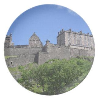 Beskåda av det Edinburgh slottet, Edinburgh, Skott Dinner Plates