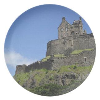 Beskåda av det Edinburgh slottet, Edinburgh, Skott Tallrikar