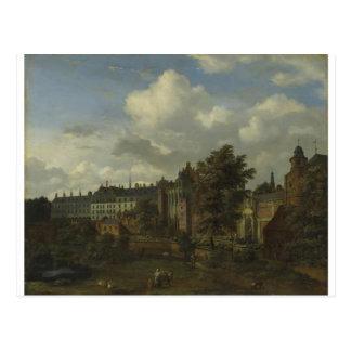Beskåda av det forntida slottet av hertigarna vykort