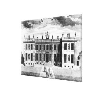 Beskåda av det Marlborough huset i bårmall Canvastryck