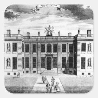 Beskåda av det Marlborough huset i bårmall Fyrkantigt Klistermärke
