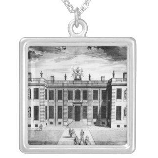 Beskåda av det Marlborough huset i bårmall Silverpläterat Halsband