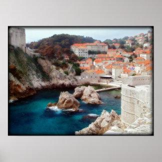 Beskåda av Dubrovnik Poster