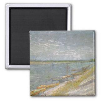 Beskåda av ekor för en flodw av Vincent Van Gogh Magnet