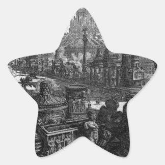 Beskåda av en av monument i den forntida cirkusen stjärnformat klistermärke