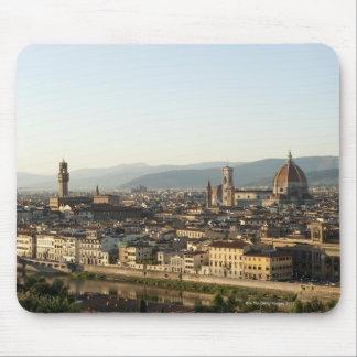 beskåda av florence med den Arno floden, duomoen,  Musmatta