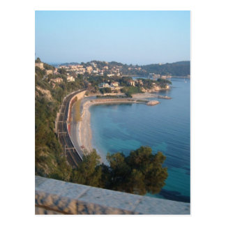 Beskåda av fransk kusten vykort