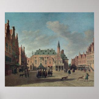 Beskåda av Groten Markt i Haarlem Poster