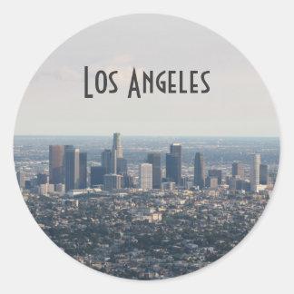 Beskåda av i stadens centrum Los Angeles Runt Klistermärke