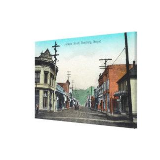 Beskåda av Jackson StreetRoseburg, ELLER Canvastryck