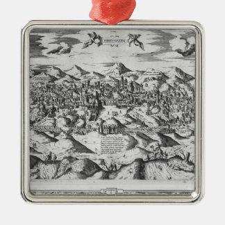 Beskåda av Jerusalem, 1570? Julgransprydnad Metall