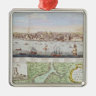 Beskåda av Lisbon, 1755 Julgransprydnad Metall