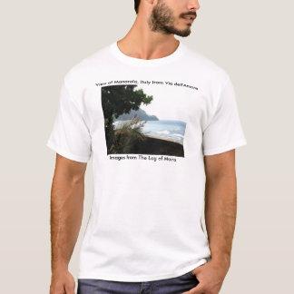 Beskåda av Manarola, italien från via dell'Amore Tshirts