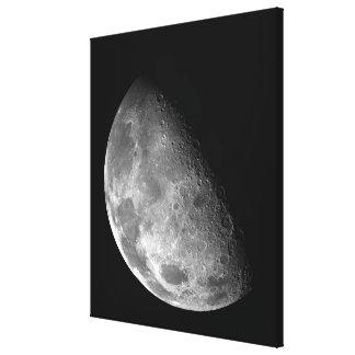 Beskåda av måne nordpolen canvastryck