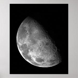 Beskåda av måne nordpolen poster