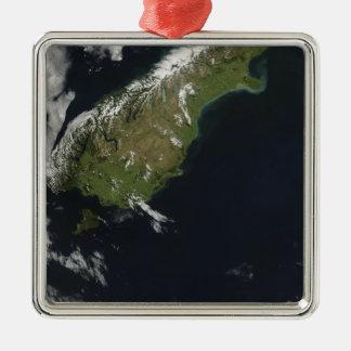Beskåda av mest av den södra ön av nyazeeländskt julgransprydnad metall