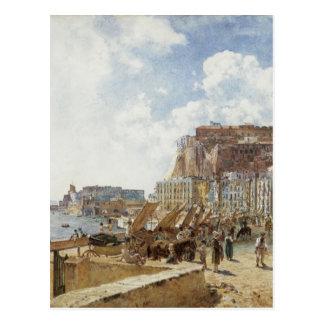 Beskåda av Naples av Rudolf von Alt Vykort