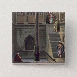 Beskåda av nilometeren, plätera 2 från 'beskådar a standard kanpp fyrkantig 5.1 cm