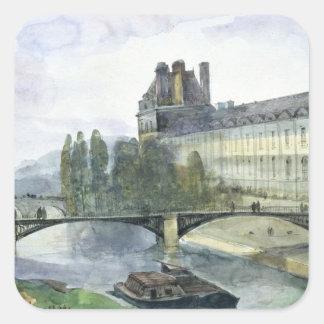 Beskåda av Pavillonen de Flore av luftventilen Fyrkantigt Klistermärke