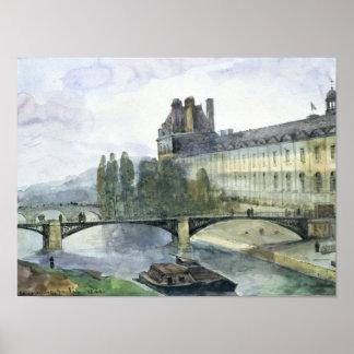 Beskåda av Pavillonen de Flore av luftventilen Poster