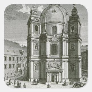 Beskåda av Peterskirchen Fyrkantigt Klistermärke