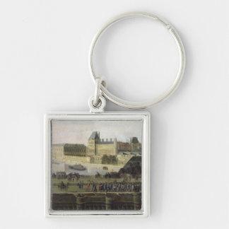 Beskåda av Ponten-Neuf och floden Seine Fyrkantig Silverfärgad Nyckelring