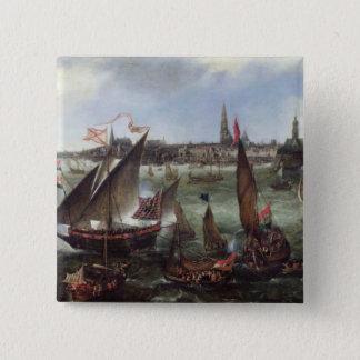 Beskåda av porten av Antwerp Standard Kanpp Fyrkantig 5.1 Cm