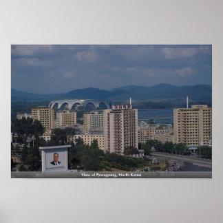 Beskåda av Pyongyang, Nordkorea Poster