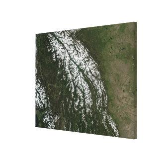 Beskåda av rocky mountains canvastryck
