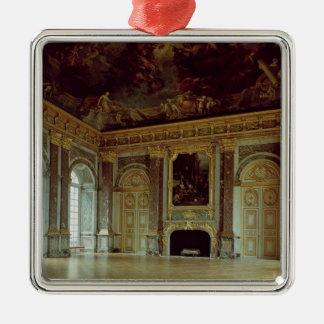 Beskåda av salongd'Herculen, invigt i 1739 Silverfärgad Fyrkantigt Julgransprydnad