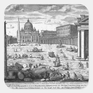 Beskåda av St Peter, Rome Fyrkantigt Klistermärke