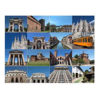 Beskåda av staden av Milan Milano i italien Vykort
