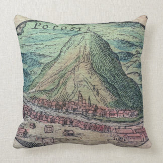 Beskåda av staden av Potosi, Bolivia, med dess Kudde