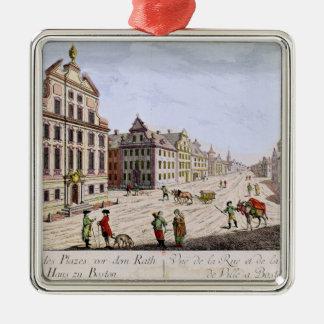 Beskåda av stadshuset, Boston Julgransprydnad Metall