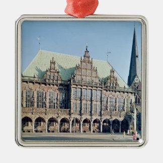 Beskåda av stadshuset, byggt 1405-09 julgransprydnad metall