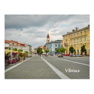 Beskåda av stadshuset, Vilnius Litauen Vykort