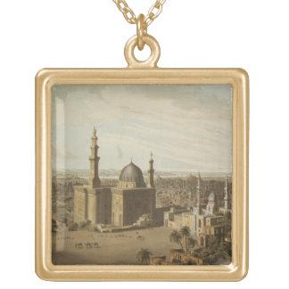 Beskåda av storslagna Cairo, inristat av Daniel Ha Guldpläterat Halsband