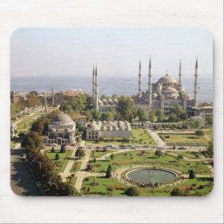 Beskåda av sultanen Ahmet som Camii byggde 1609-16 Musmatta